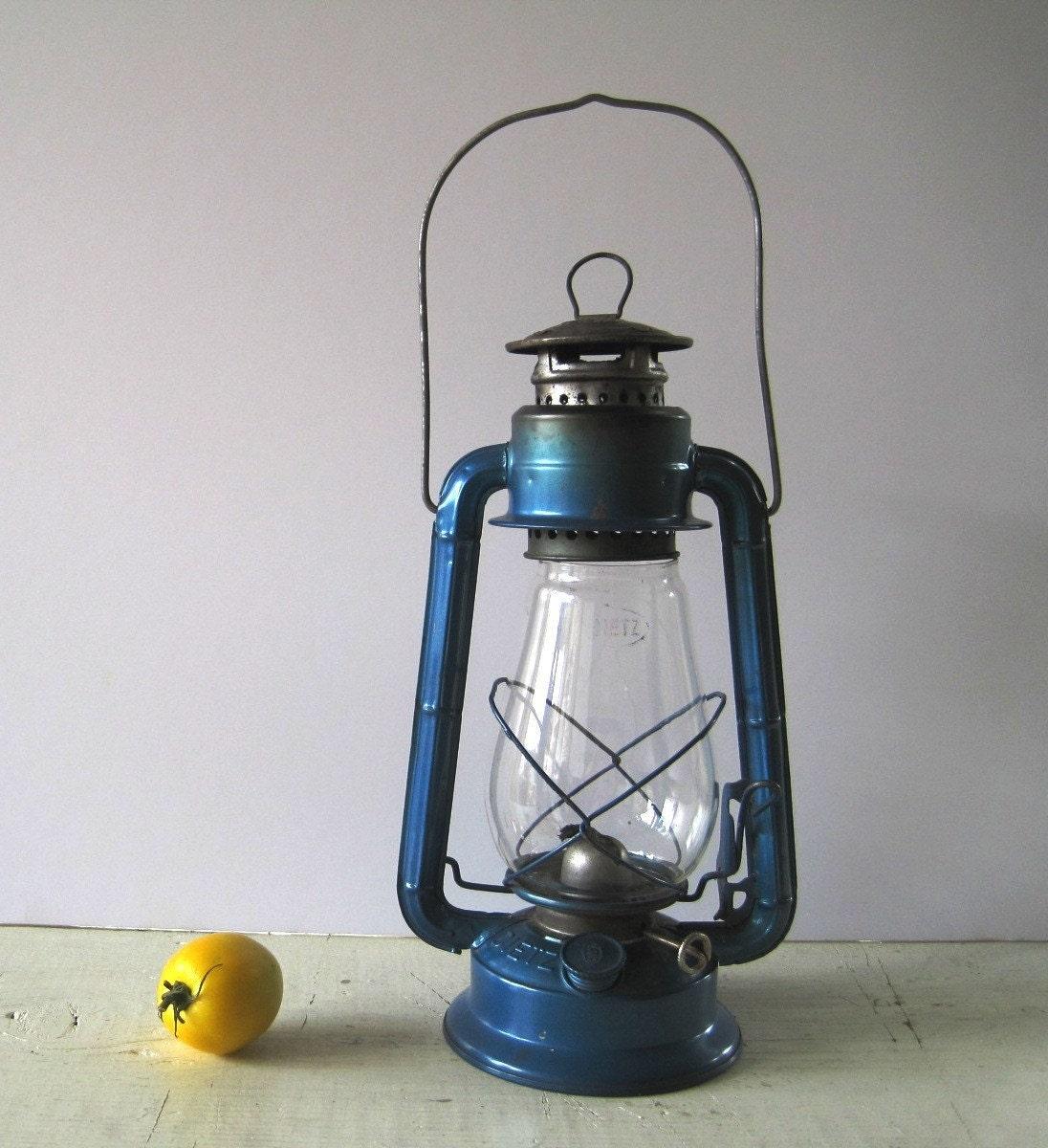Teal Blue Vintage Dietz Lantern