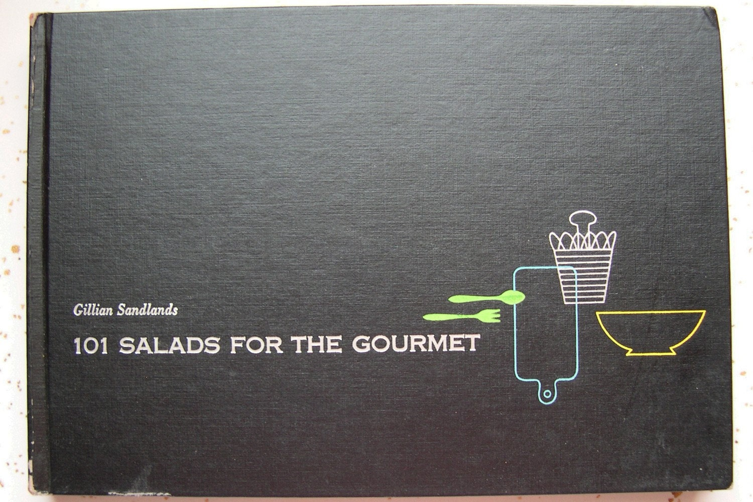 Elegant 101 SALADS FOR THE GOURMET cook book mid century 1954
