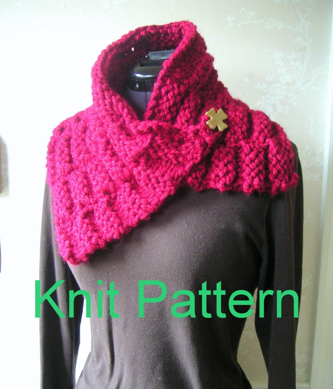 One Skein Scarf EASY Knit Pattern pdf by GraceKnittingPattern