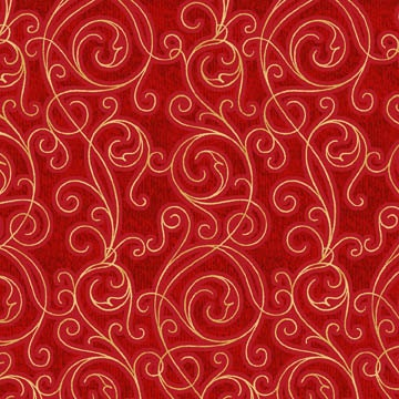 Filigree in Red from Winter Solstice by Jason Yenter - 1 YD - FabricFascination