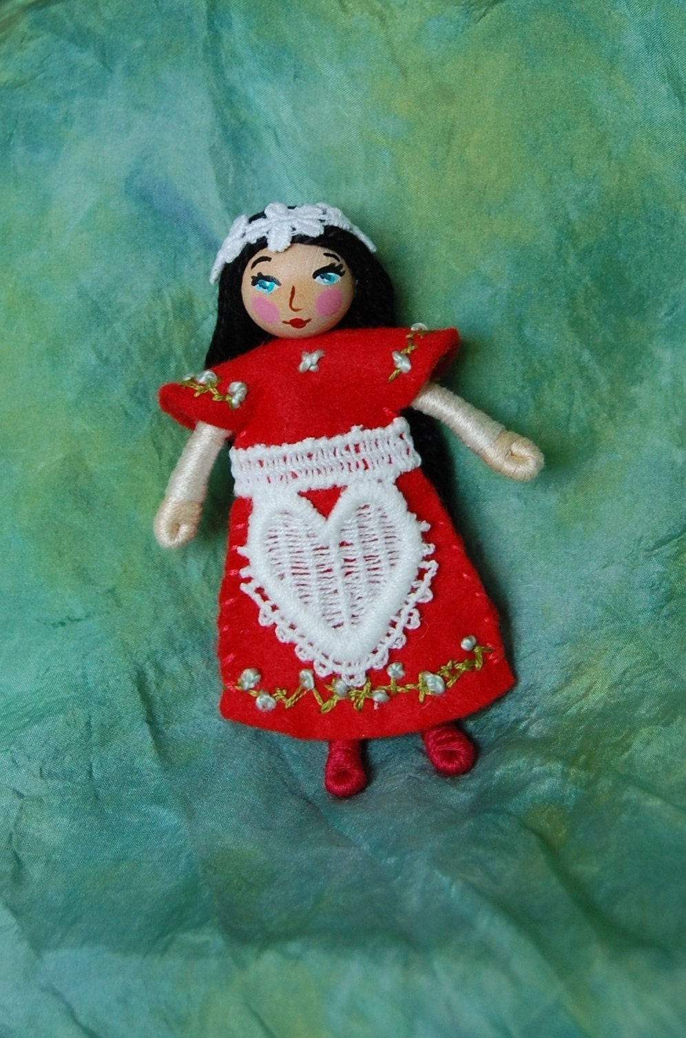 Snow White Princess Doll 4 inch tall Felt Bendy Folk
