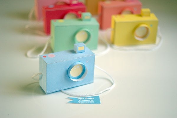 SPECIAL - Baby Box Cameras - includes all 7 colours - Printable PDF paper craft project