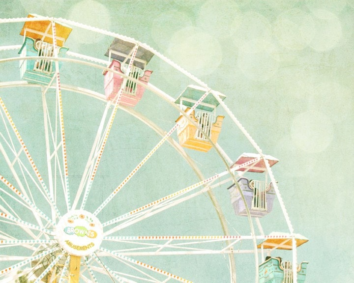 Ferris Wheel II - 11x14 Vintage Inspired Photograph