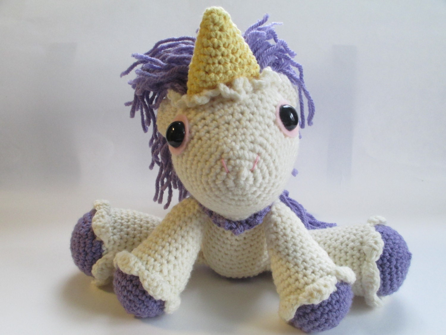 Unicorn Amigurumi Yarn Yard : Unicorn Amigurumi Crochet Stuffed Toy by NotJust4Grannys ...