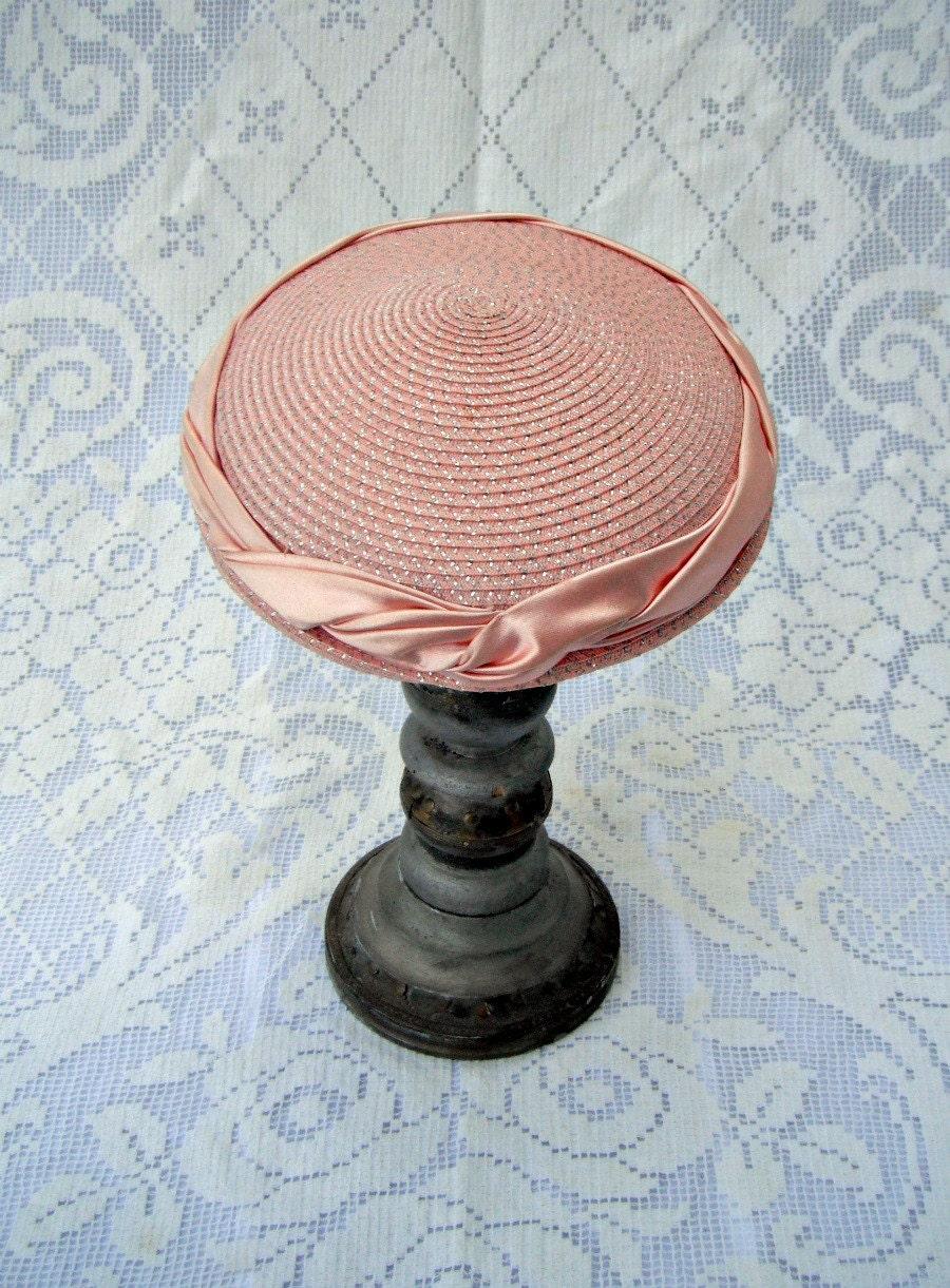 Vintage Hat // Peach Sparkle - woolandwhatnot