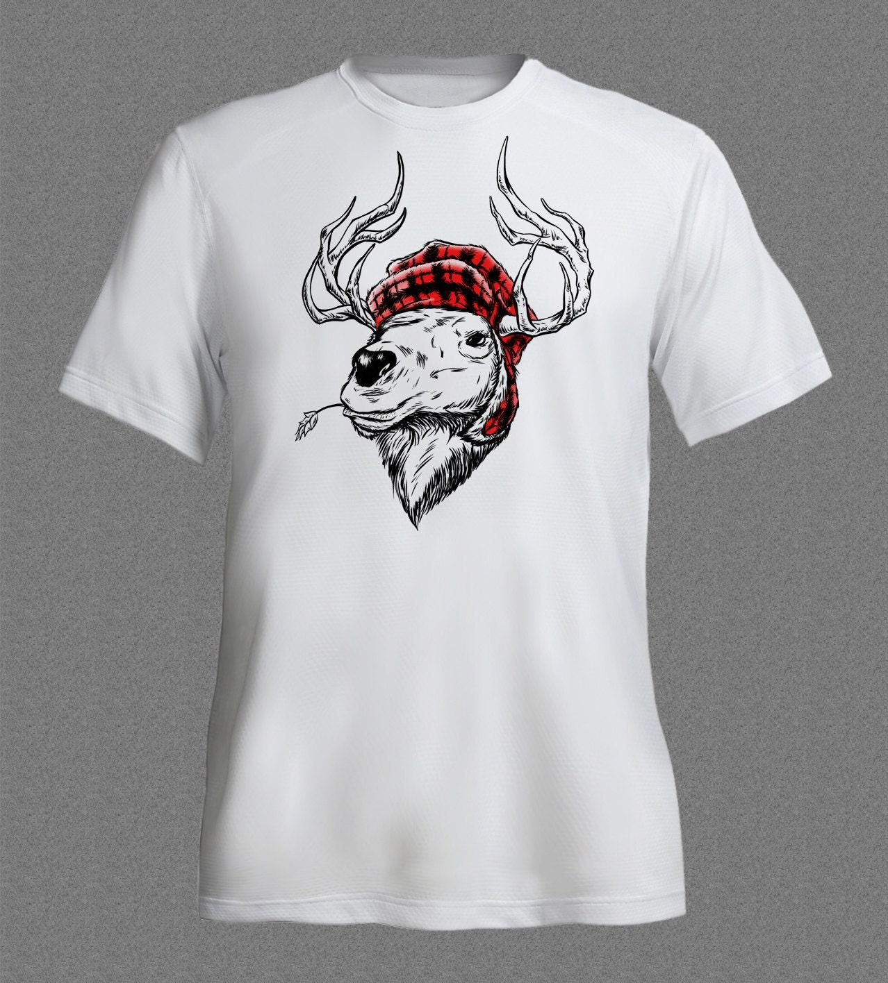 Reindeer Rudolph Christmas Santa Animal funny Tshirt