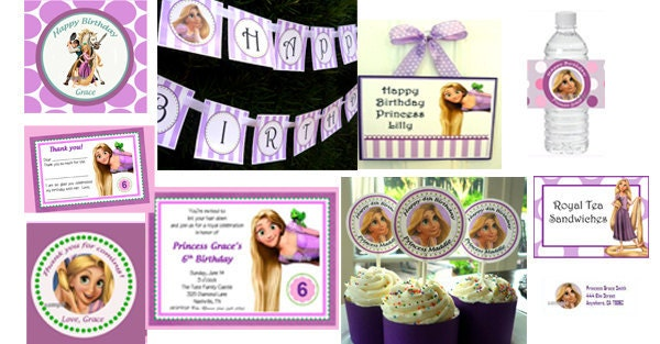 Personalized Rapunzel Party Supply Ultimate Printable Package