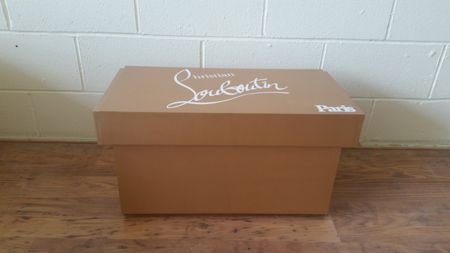 XL Shoe Storage Box Christain Louboutin Giant Shoe Box with lining (fits 68no pairs of shoes)