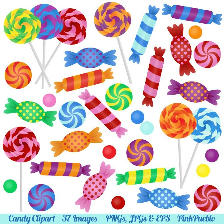 candy clipart clip art with lollipops peppermints by