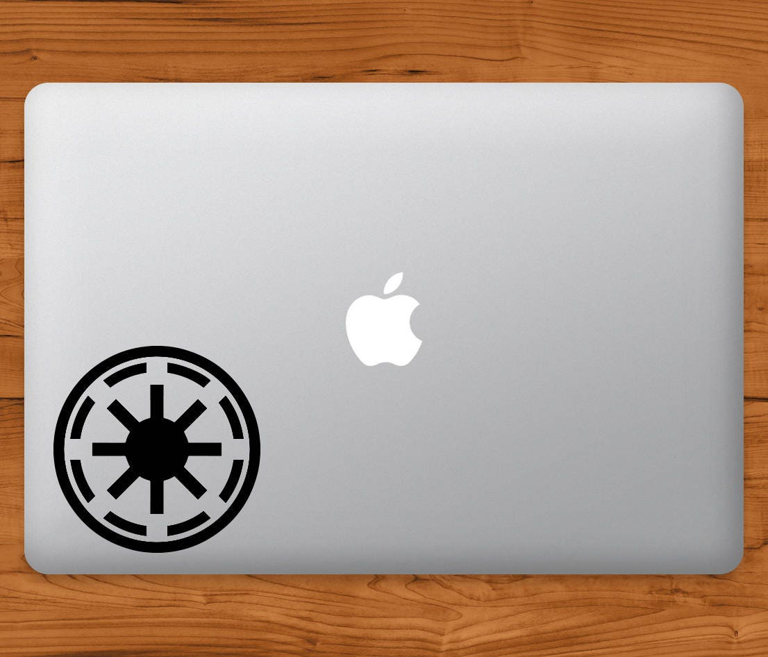 Star Wars Galactic Republic Logo Apple MacBook Decal Laptop Sticker Star Wars Laptop Decal