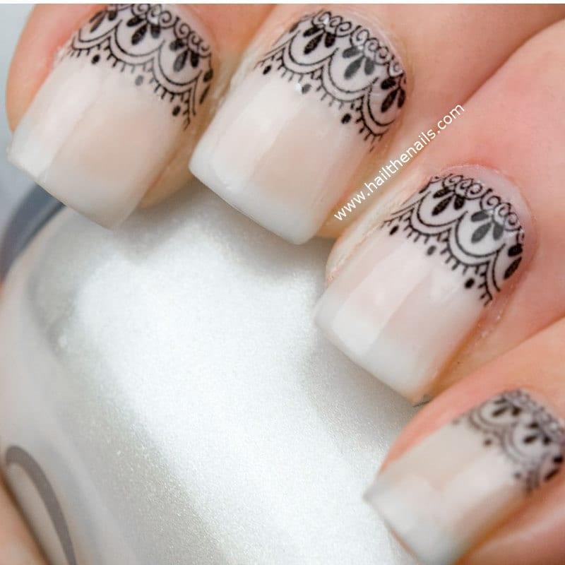 Дизайн ногтя кружева