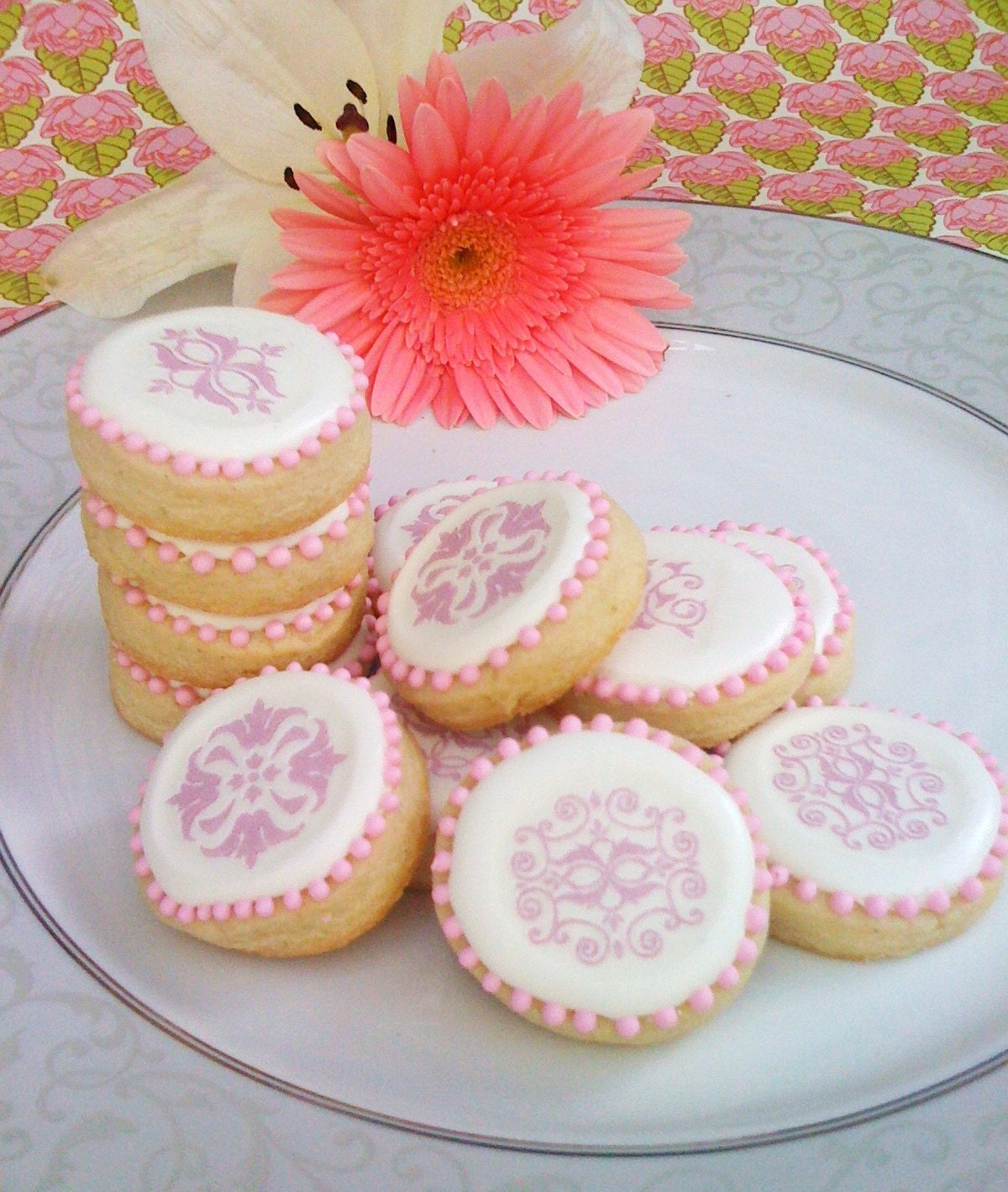 Baroque design cookies (1 dozen)
