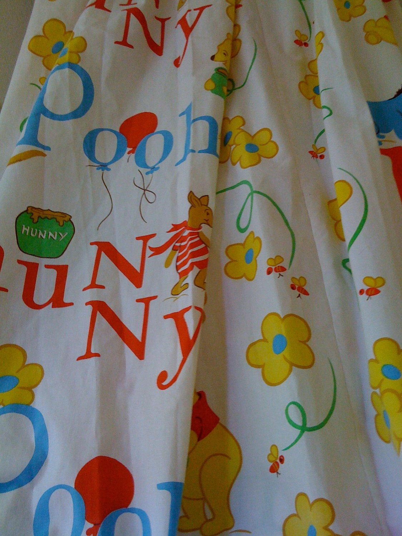 Vintage Winnie The Pooh Nursery Curtains By Hillsidehouse On Etsy