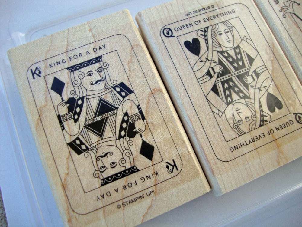 Card Games, Stampin UP Stamp Set, DESTASH