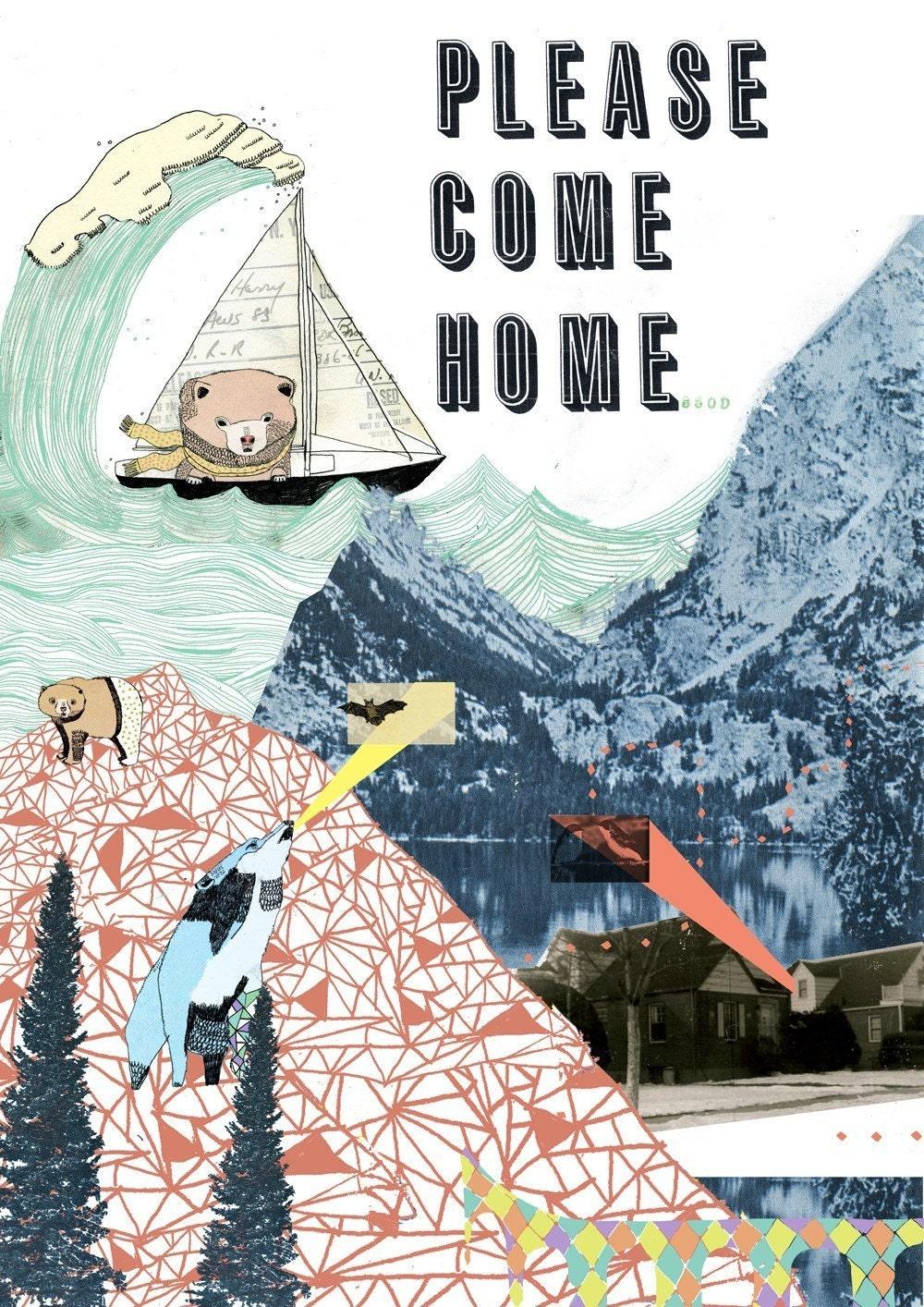 Please Come Home 5 x 7 Print