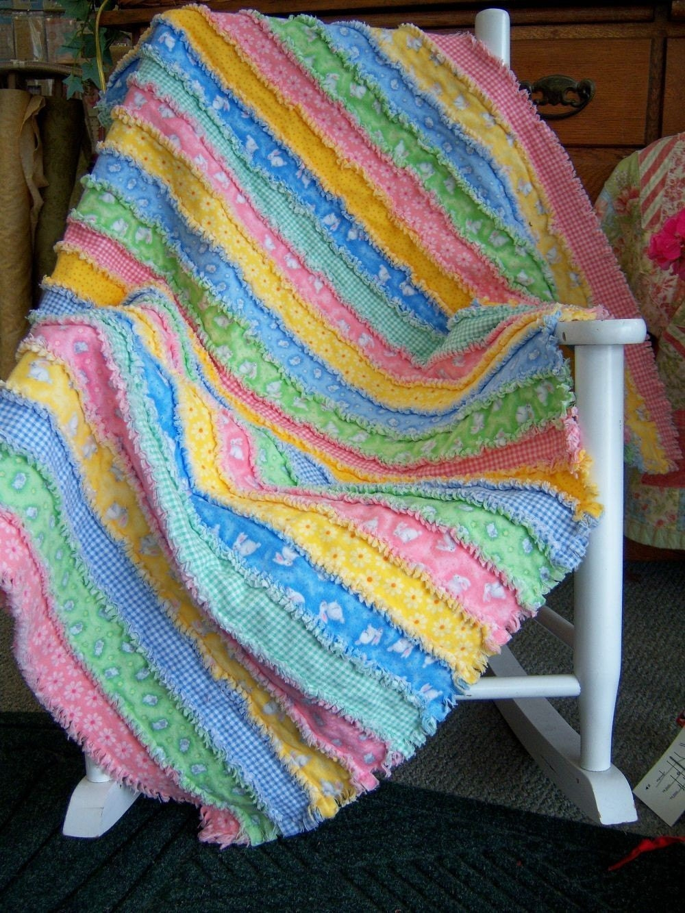 Easy as 1-2-3 Rag Quilt Pattern by KrisKreations2008 on Etsy