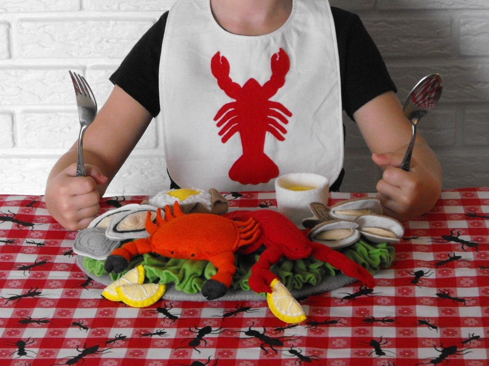 Lobster Crab Seafood Felt Food Pattern PDF