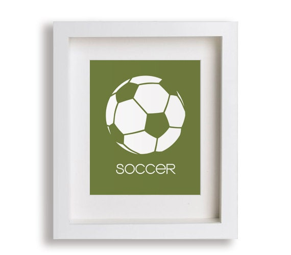 Soccer Art Print Modern Wall Decor For Kids Rooms By