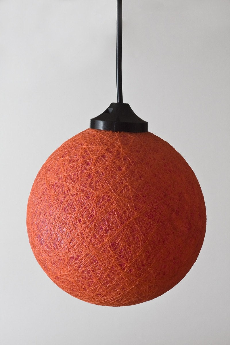 Mini ceiling lamp Orange magenta by FiligreeCreations on Etsy from etsy.com