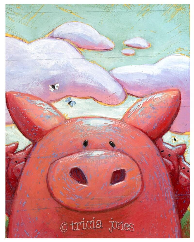 Art Print, All the Little Piggies (8x10 Print)