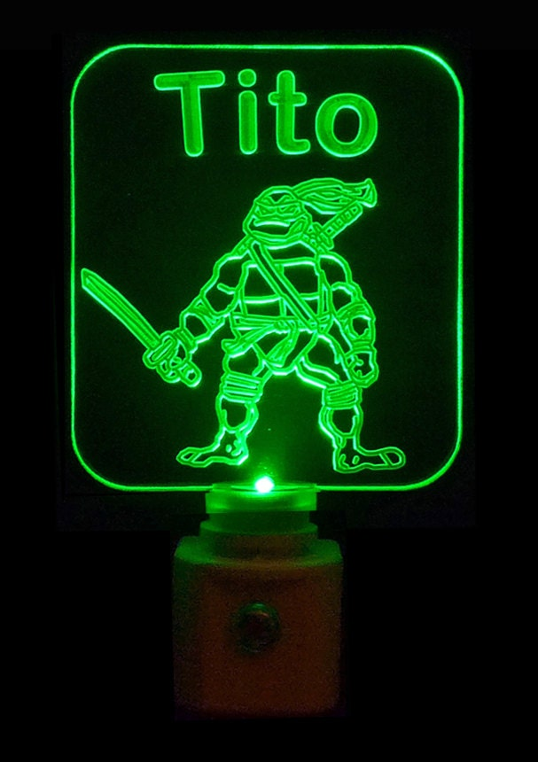 Personalized teenage mutant ninja turtles by uniqueledproducts - Turtle nite light ...