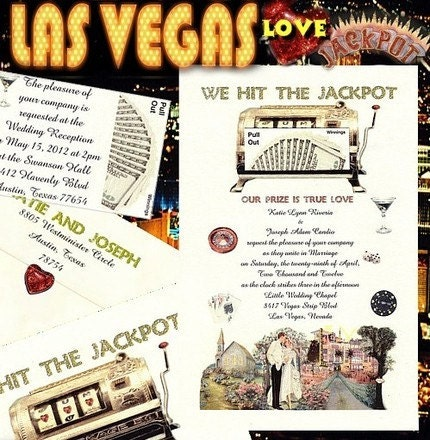 vegas wedding invitations. Las Vegas Wedding Invitations