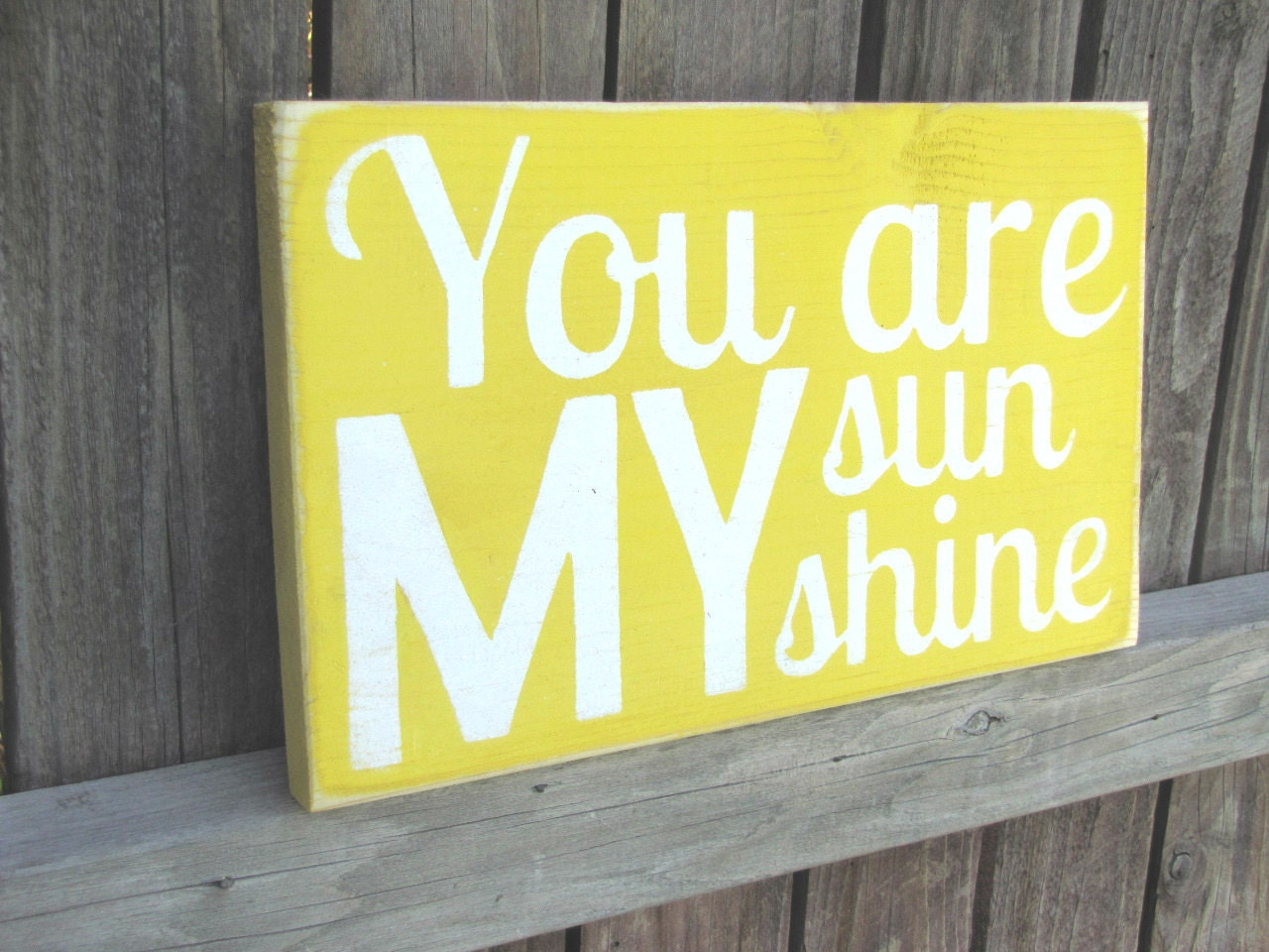 You Are My Sunshine Wooden Distressed Subway Art Sign Wall Hanging