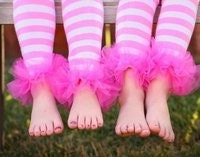 Hot  PiNK / PiNK / WHiTE PiNK STRiPED BuNNY lEGS ( leg warmers ) PeRFECT FoR  CRAWLiNG BABy BuT WiLL FiT GiRLS oF All AGeS