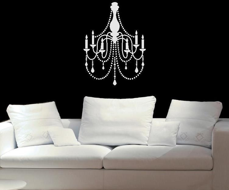 Chandelier  wall decal vinyl