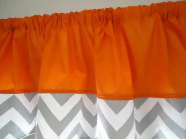 Orange With Chevron Lime Green Grey Navy Blue By Babycribskirts