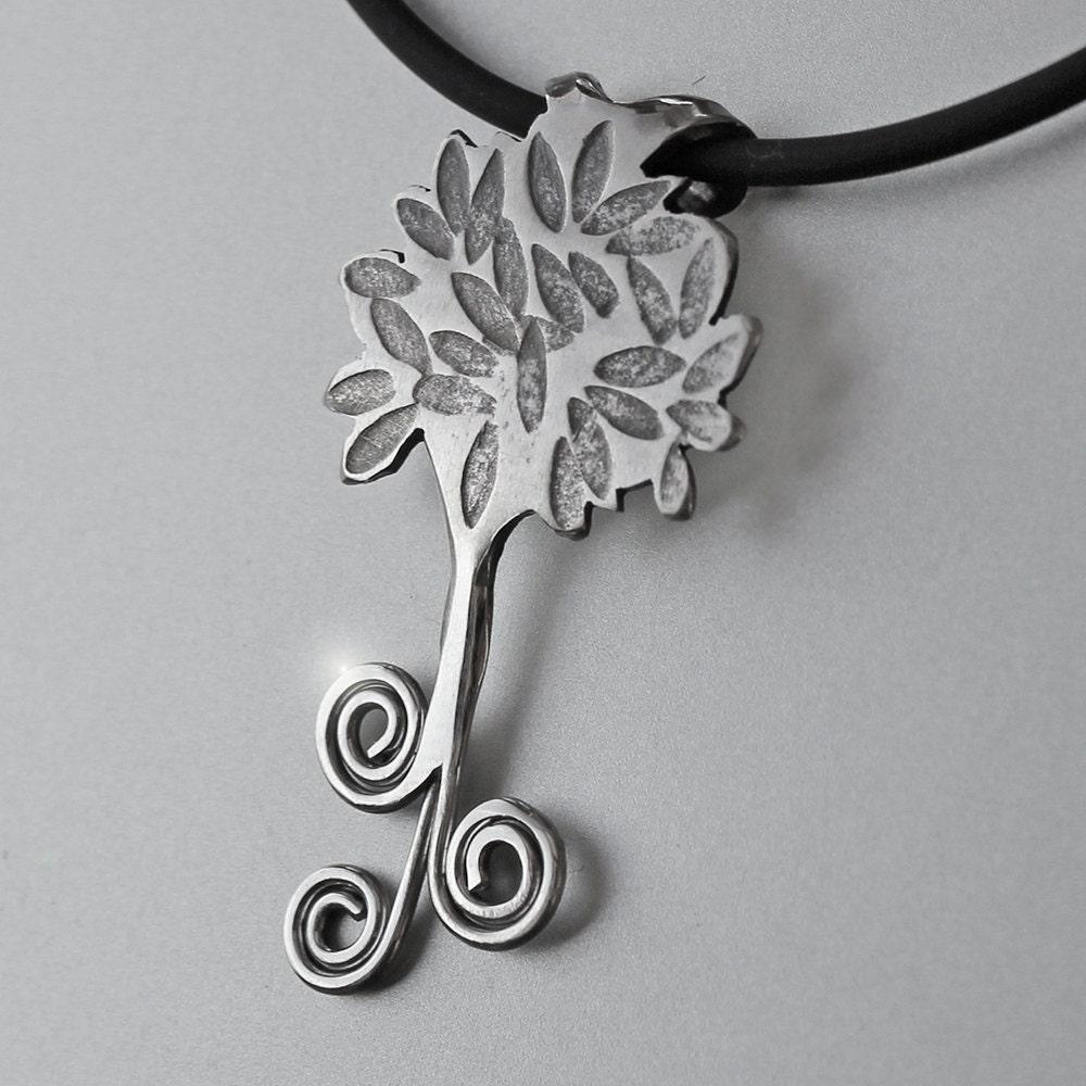Spiral Tree Pendant Silver Jewelry Silver Pendant Tree Pendant Silver Jewellery