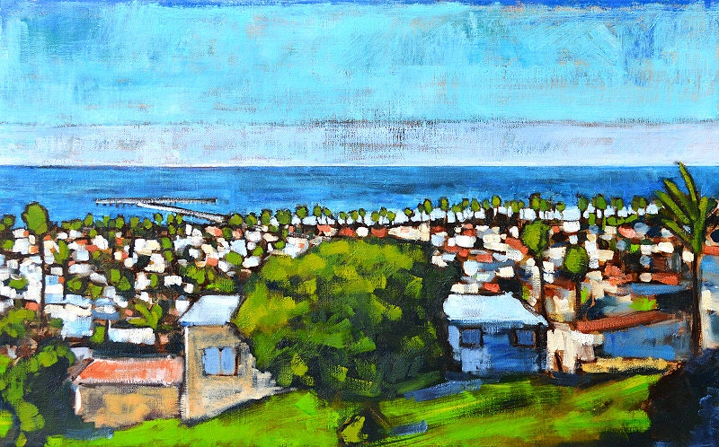 Over Ocean Beach- Landscape Painting - KevinInmanArt