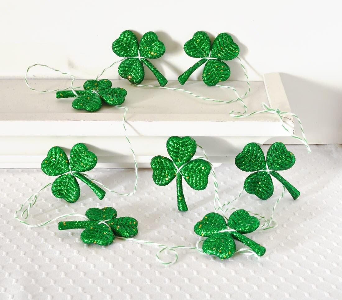 Man Cave Accessories Ireland : St patrick s day irish garland shamrock clover party by