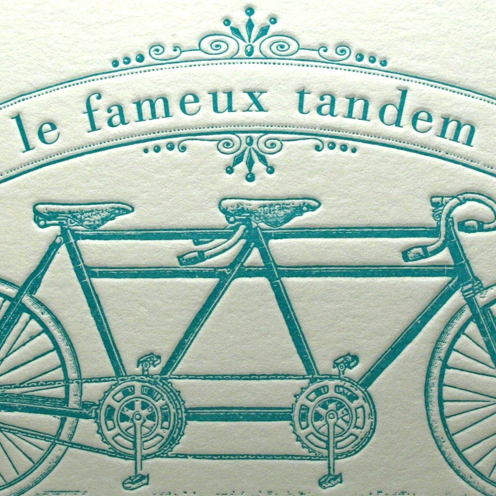 Famous Bicycle Built for Two in Teal