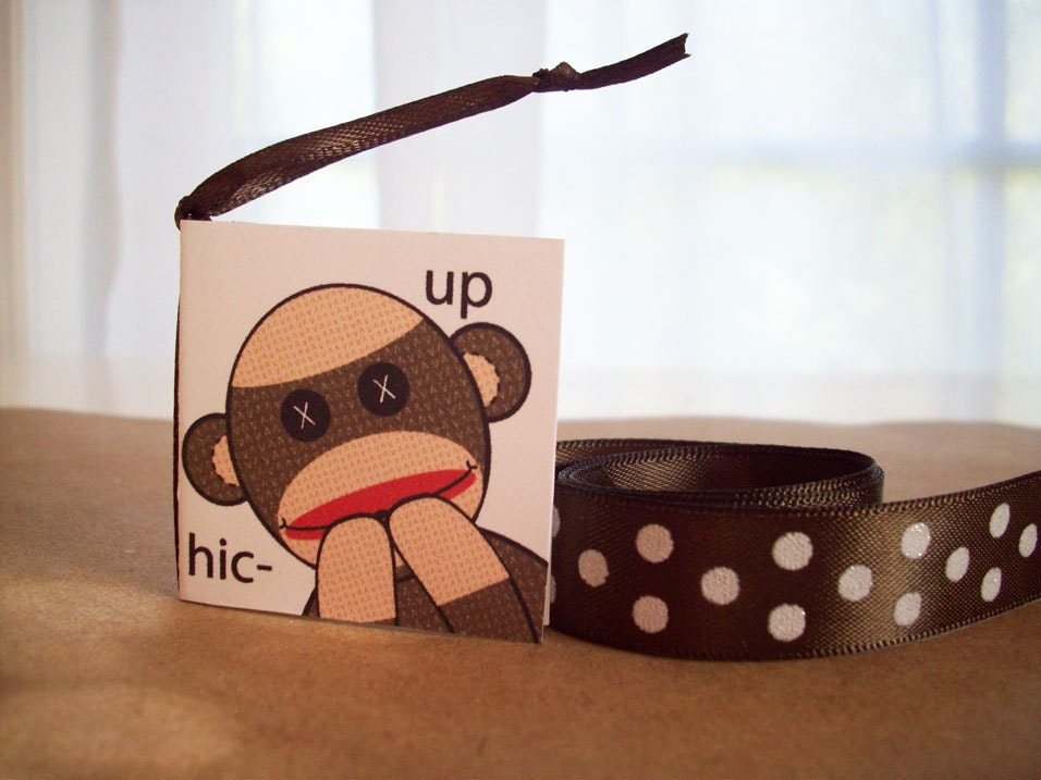 Sock Monkey Gift Tag