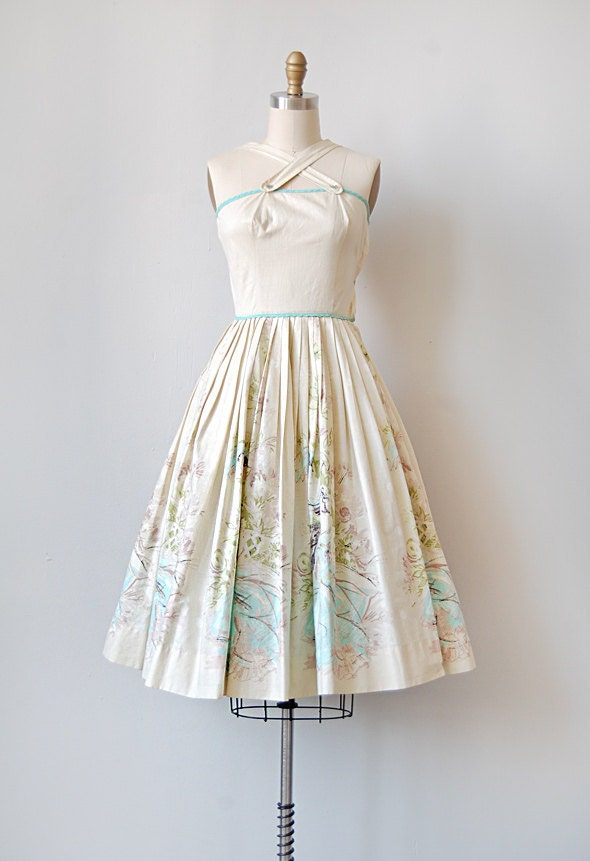 vintage 1950s scenic sundress | LAKE MONTMARTE DRESS