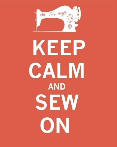 Keep Calm and Sew On - 8 x 10 - Print