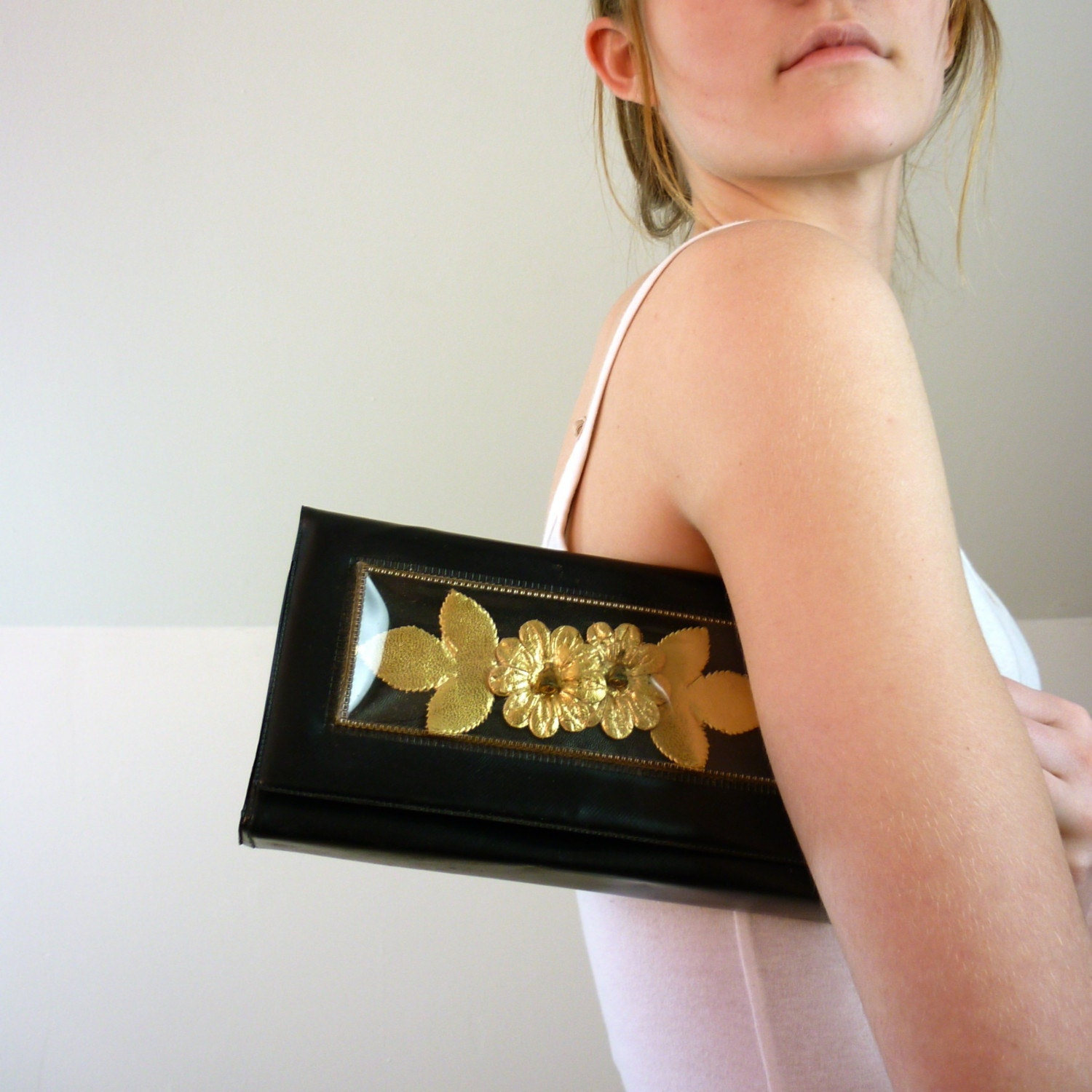 1960's Golden Blossom Clutch