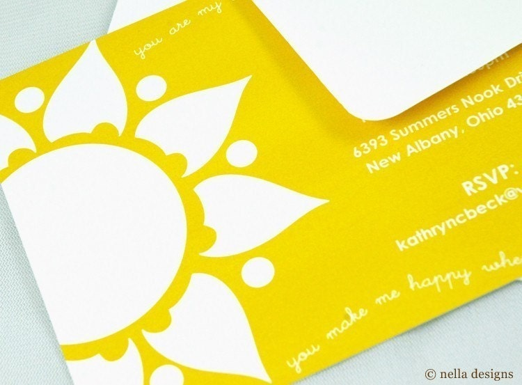 You Are My Sunshine Invitations