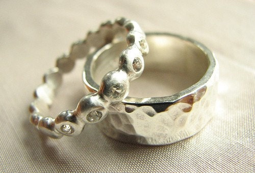 Beaded Ring with Diamond