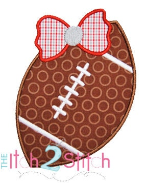 Applique Only :: Football Applique - Embroidery Boutique