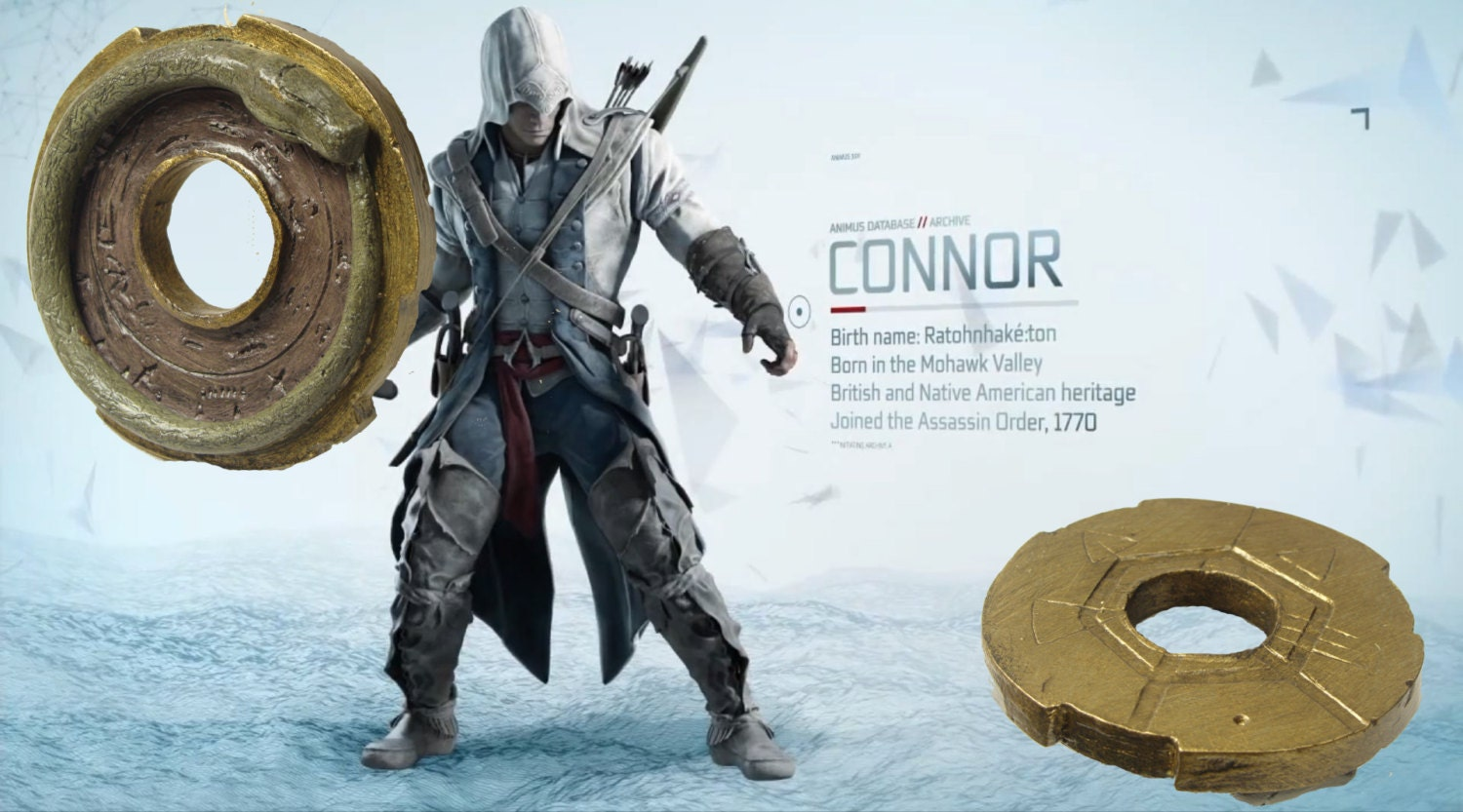 Assassins Creed 3 Connor Amulet Grand Temple Key Necklace Haytham