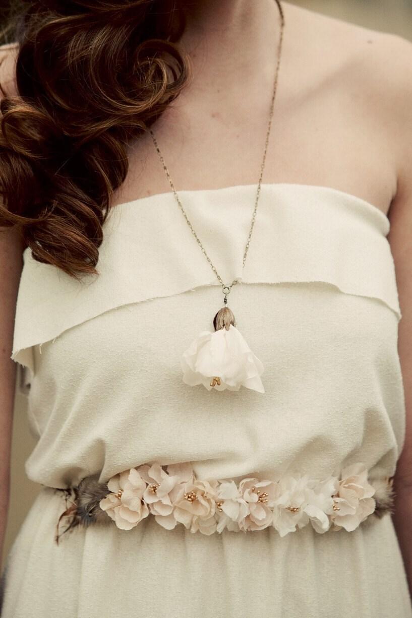 Handmade silk blossoms belt- style 405