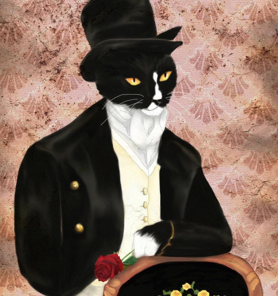 Mr. Darcy 5x7 Rose Wallpaper Print. From TaraFlyPhotos