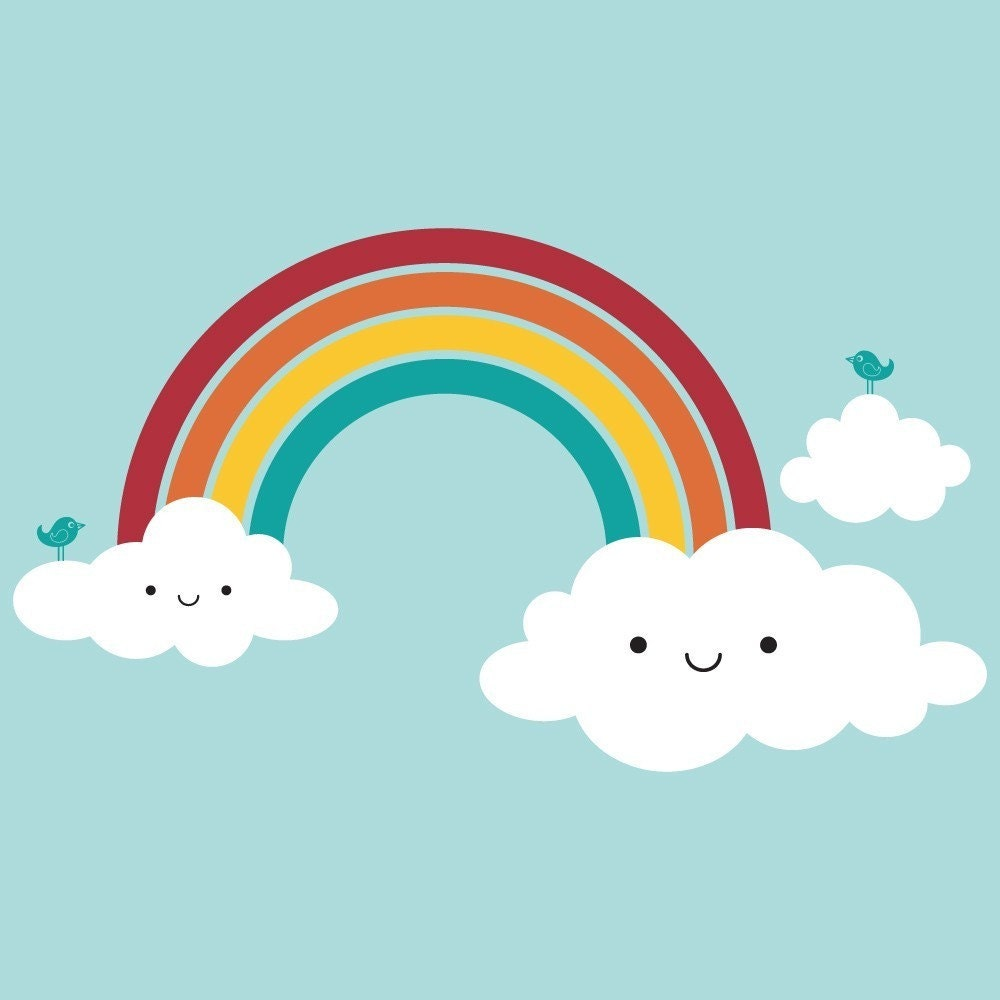 Epic Happy Rainbow Wall Decal