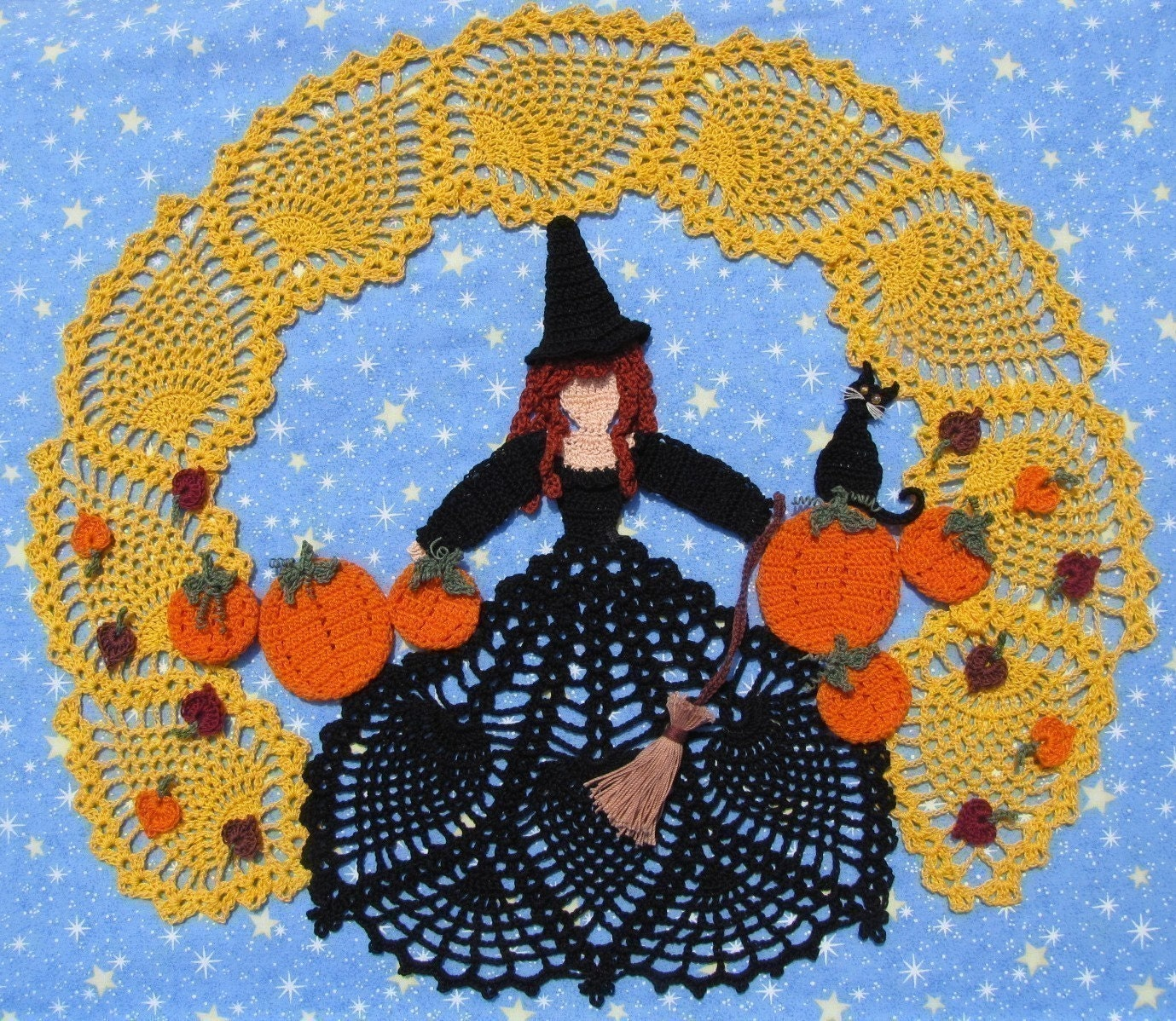 """Liz-a-Witch"" Halloween Crochet Doll 
