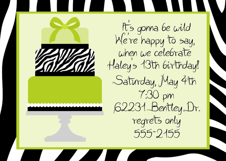 Similiar 13 Year Old Girl Birthday Invitations Keywords – 13 Birthday Party Invitations