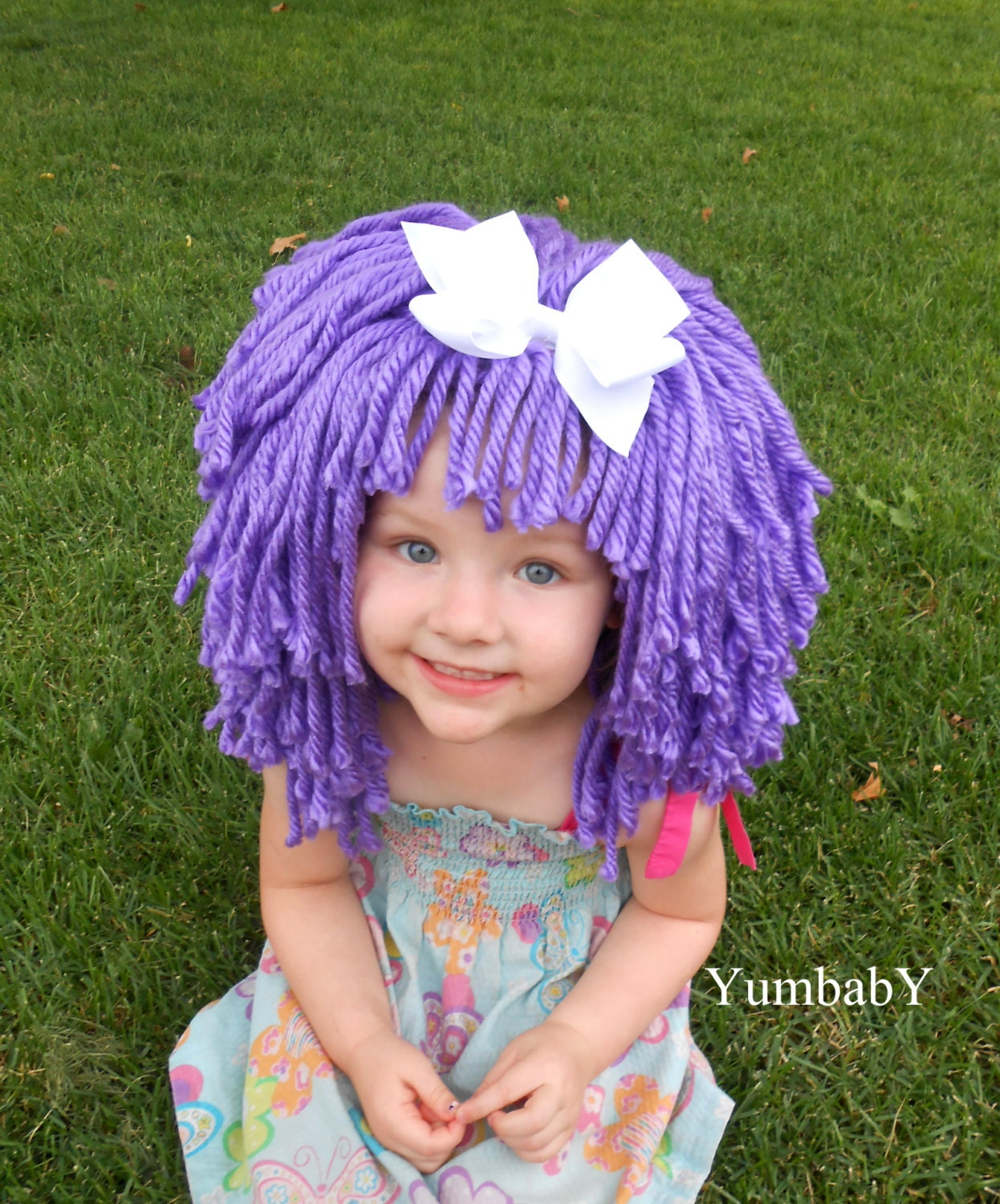 halloween costume for girls purple wigs toddler by yumbaby on etsy