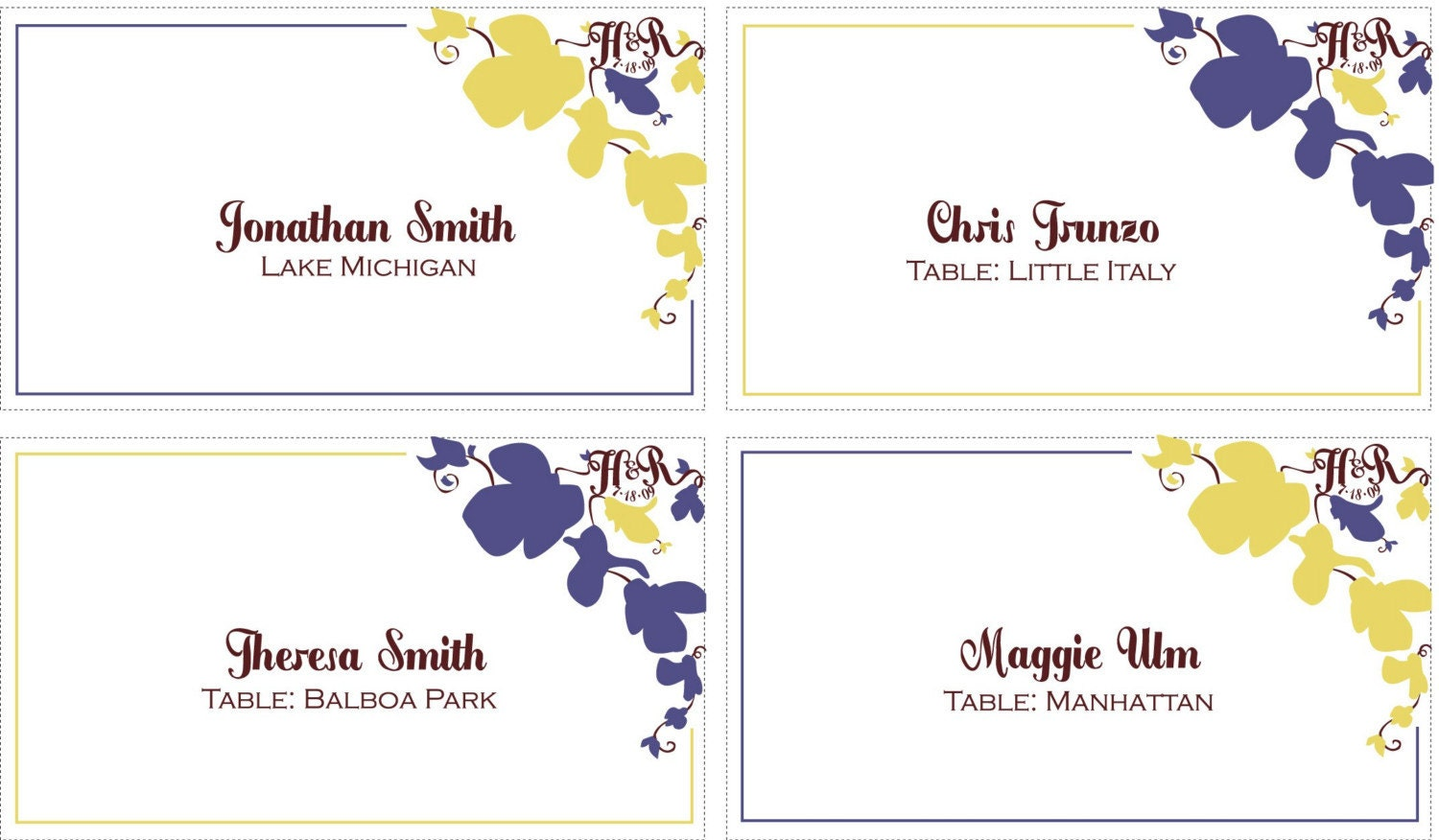 ... templates cards tent cards elegant purple roses small tent card 4 per