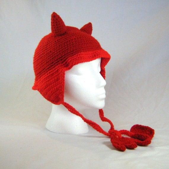 Crochet mens earflap hat pattern